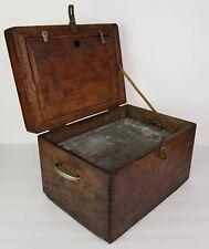 Primitive Wood Box Wooden Art Object Work Box Joint Rustic Vintage Antique