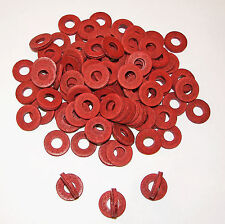 100 Tattoo Machine Double Thick Red Fiber Coil Core Washers, binder Parts