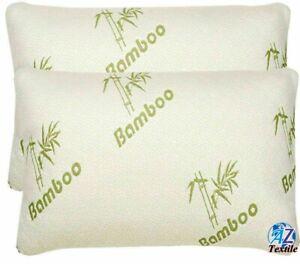 4X  Bamboo Hollow fiber Pillow Ultra Soft Anti-Bacterial Head Neck Back UK