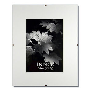 Set of 2 - 11x14 Glass & Clip Frames, Single White Mats for 8x12 - $12 SHIPPING