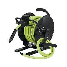 flexzilla portable manual open face air hose reel 38 in x 50 ft - Retractable Garden Hose Reel