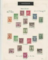 australia 1937 - 38 mounted mint and used stamps on page  ref r12934