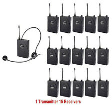 UHF-938 Frequency Wireless Tour Guide System 50m Operating Range Transmitter