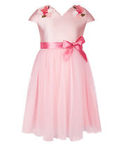 Monsoon Nova Flower Dress Pink Age 9 Years rrp £60 DH172 ii 15