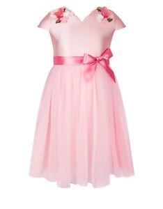 Monsoon Nova Flower Dress Pink Age 9 Years rrp £60 DH172 ii 15