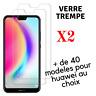 Verre Trempé X2 pour Huawei HONOR 10/9/8 MATE20 P20 Film VIitre Protection Ecran