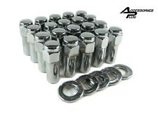 20 Pc 7/16 WELD DRAGLITE WHEEL LUG NUTS PONTIAC With CHROME WASHERS #8852
