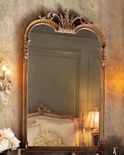 """French Ornate Wall Mirror Curved Arch Gleaming Primrose STYLE Vanity Bath 43"""""""