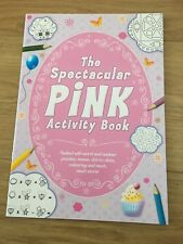 Pink / Girl's Activity Book Creative Fun Learning, crosswords, dot-to-dot, mazes