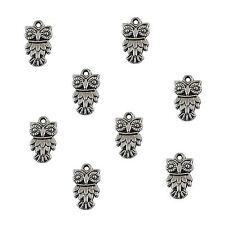 30 x Tibetan Silver Owl Pendant Charms Bird