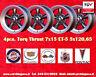 4 cerchi Torq Thrust 7x15 5x120.65 Buick Cadillac Oldsmobile Pontiac Chevrolet