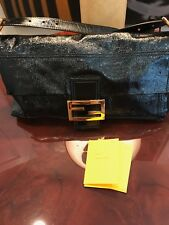Authentic Fendi Large Patent Black Leather Clutch Handbag - Italy f3bced55be447