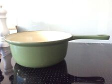 Vintage Cast Iron French Le Creuset Size 22 Saucepan Pot Dark Green