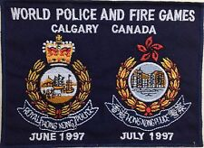 Genuine HK World Police & Fire Games 1997 Calgary Canada TRF/Patch/Badge Rare