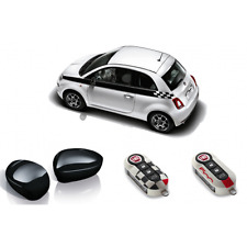 FIAT 500 BLACK SPORT PACK: SIDE STRIPES, MIRROR AND KEY COVER - 71807472