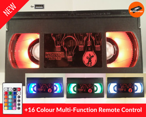 📼 Retro USB VHS Lamp | Stranger Things Unique UK Xmas Gift | Desk lamp, Gadget