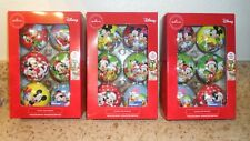 Hallmark Set of 6 Disney Mickey Mouse & Friends Christmas Ball Ornament Lot of 3