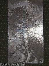 Quadro quadretto realizzato con incisione su metallo inciso a mano fantasy 6 da
