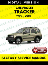 Chevrolet Tracker 1999 to 2005 Service Repair Workshop Manual