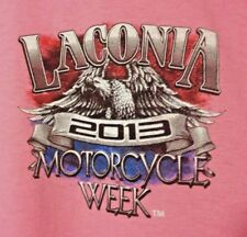 Laconia Motorcycle Bike Week T Shirt Large Pink 2013 Biker Boston Strong NWT