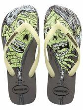 Havaianas Toddler Boys 4nite Glow In Dark Zombie Sandals Grew 7/8 New