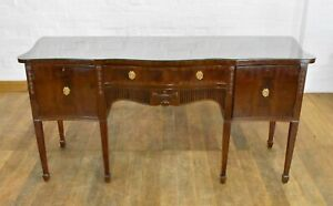 Large Antique style nice quality mahogany serpentine sideboard