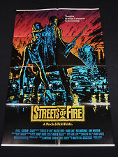 STREETS OF FIRE 1984 * MICHAEL PARE * DIANE LANE * ONE SHEET NEAR MINT UNUSED!!