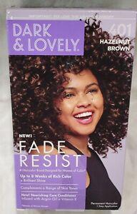 New Dark & Lovely Fade Resist Hair Color 401 Hazelnut Brown w/ Conditioner