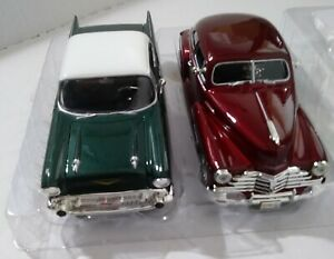 FAIRFIELD MINT 1957 CHEVY BEL AIR & 1948 CHEVY FASTBACK 2 CAR SET #75247 NIB