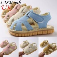 Baby Kid Girls Boys Roman Soft Sole Crib Shoes Sandals Newborn Sneakers Shoes UK