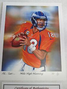 Peyton Manning  8 x 10  art  print lithograph PP 2/5