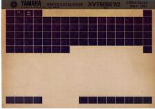 Yamaha XV 750 se' 82_5k4 _ parts Catalogue _ pieza de repuesto-catálogo _ microfich _ extenso _ lista