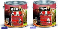 24,84€/L Saicos Holzlasur Perlmutt 0070  Neu 5 L  Holzschutz Holz Lasur Öl
