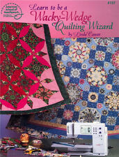 Learn to Be A WACKY WEDGE QUILTING WIZARD Quilt Pattern Book ~ New