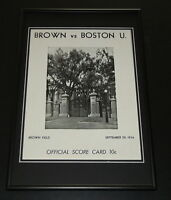 1934 Brown vs Boston U Football Framed 10x14 Poster Official Repro