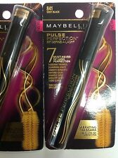 ( LOT OF 3 ) Maybelline Pulse Perfection Washable Mascara # 841 VERY BLACK NEW.