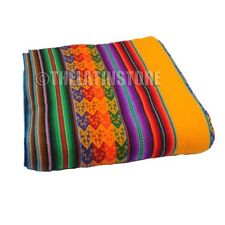Throw-Peruvian Aguayo ( Manta) Ethnic colorful- Yellow