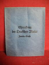 Original Verleihungstüte für Mutterkreuz Orden zweiter Stufe Ehrenkreuz 2. WK2
