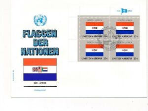 D112873 Flag Series South Africa FDC United Nations New York Bureau