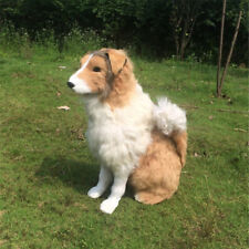 Hot Realistic Plush Toys Rough Collie Big Stuffed Lying Dogs Animals Doll gifts