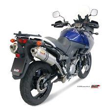 Mivv Suzuki DL V-Strom 1000 2010 10 Pot D' Echappement Moto Oval Titanium