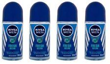 4x Nivea Fresh Ocean Deodorant Roll On for Men 0% Aluminium FREE SHIPPING