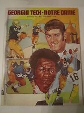 1977 NOTRE DAME VS GEORGIA TECH UNIVERSITY FOOTBALL PROGRAM - TUB Q