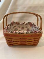 1992 LONGABERGER Mother's Day Basket, Liner, & Protector