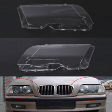 Left & Right Headlight Lenses For BMW E46 3-Series 4 Door Wagon/Sedan 99-01