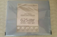 New 4-pc Blue 625 Thread Count Sateen Weave Optimal Performance King Sheet Set