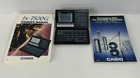 Casio fx-7500G Graphics Scientific Graphing Calculator WORKING & two manuals