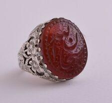 Islamic Silver Yemen agate hand engrave kabdi aqeeq akik Ring