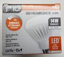 TCP LED14E26BR3041K 14 Watt LED BR30 4100K Light Bulb