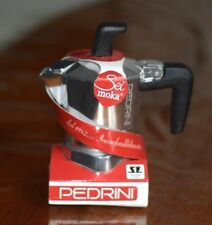 PEDRINI Espresso STOVE Top Coffee maker-continentale Moka Moka 1 TAZZA Argento